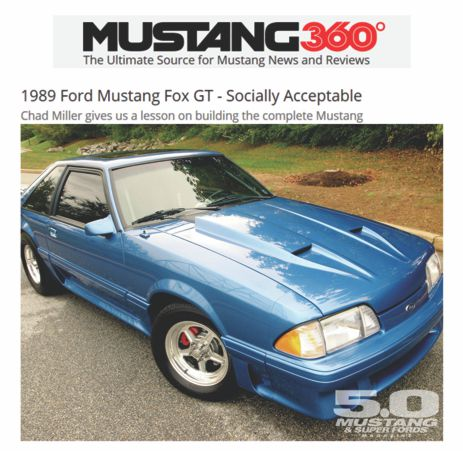 Mustang 360 Magazine Cover featuring Karnuts 1989 Ford Mustang Fox GT